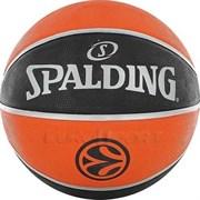 Мяч баскетбольный SPALDING TF-150 EURO р. 7, резина, оранжево-черный