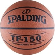 Мяч баскетбольный SPALDING TF-150 Performance р. 7, резина, коричнево-черный