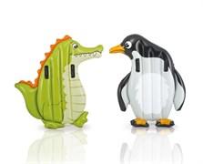 Надувная игрушка для плавания Аллигатор и Пингвин Intex 58151