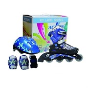 Набор: коньки ролик, защита, шлем р. 34-37 PW-780
