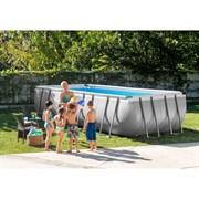 Каркасный бассейн Intex 28352 + песочный фильтр-насос, лестница, тент, подстилка (549х274х132см)