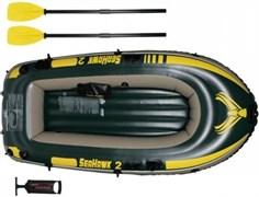 Надувная лодка Intex 68347 2-x местная Seahawk 200 Set