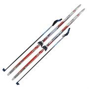 """Комплект лыж на (75мм) """"STEP"""" с насечкой Рост 190"""