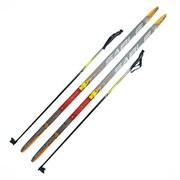 """Лыжный комплект  """"STEP"""" (лыжи+палки) крепление SNN 150"""