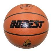 Мяч баскетбольный DOBEST PK400 р.7 синт. кожа, коричневый