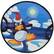 """Санки-круг 52 х 52см """" Пингвин на льдине"""" СЛ-41"""