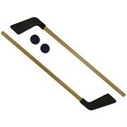 Набор - клюшка детская хоккейная 80 см 2 шт. +2 шайбы КХ-2-55