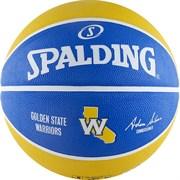 Мяч баскетбольный SPALDING NBA TEAM RBR BB Warrior р. 7, резина, сине-желто-белый