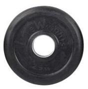 Диск (блины) 2,5 кг для штанги d-51 мм обрезиненный