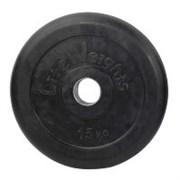 Диск (блины) 15 кг для штанги d-51 мм обрезиненный