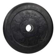 """Диск (блины) 25 кг для штанги d-51 мм обрезиненный черный с металической втулкой """"Lite Weights"""""""
