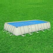 Тент солнечный прозрачный для прямоугольного бассейна 732х366см BestWay 58228