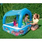 Бассейн детский с надувным дном и навесом BestWay 52192