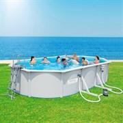 Каркасный бассейн со стальными стенкам BestWay 56371