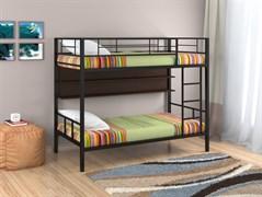 Двухъярусная кровать Севилья 2 с полкой черный