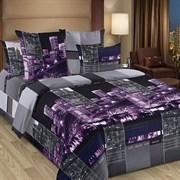 Постельное белье Сити фиолет (2-х спальное Евро)