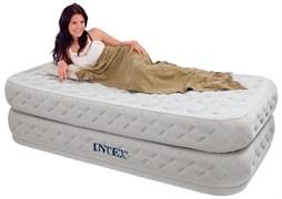 Надувная кровать Intex 64462 односпальная со встр. насосом 220В (99x191x51)