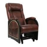 Кресло-качалка, модель 48, венге с лозой Antik Crocodile Экокожа