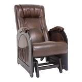 Кресло-качалка, модель 48, венге без лозы Antik Crocodile Экокожа