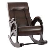 Кресло-качалка, модель 44, венге без лозы Antik Crocodile Экокожа