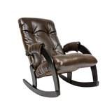 Кресло-качалка, модель 67, венге Antik Crocodile Экокожа