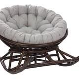 Кресло-качалка PAPASUN на полозьях, орех