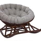 Кресло-качалка PAPASUN на полозьях, коньяк