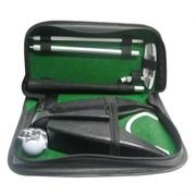 Набор для гольфа c автоматической лузой в кожаном кейсе