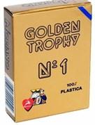 Карты для покера Golden Trophy 100% пластик, Италия, синяя рубашка