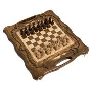 Шахматы + нарды резные c Араратом 40 с ручкой
