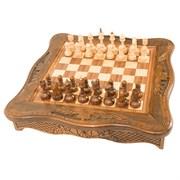 Шахматы резные в ларце 50