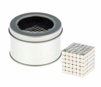 "Антистресс магнит ""Неокуб"" 216 кубиков 0,4х0,4х0,4 см (серебро)"