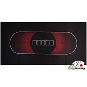 Сукно для покера черно-красное (180х90х0,2см)