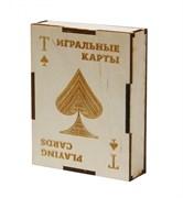 """Подарочная коробка для хранения игральных карт """"Пиковая масть"""" Эко"""