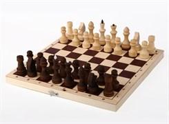 Шахматы обиходные парафинированные в комплекте с доской (без подклейки)