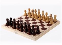 Шахматы обиходные лакированные в комплекте с доской