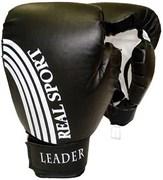 Перчатки боксерские LEADER 4 унции, черный