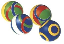 Мяч д. 125мм лакированный с-100ЛП (полоса)