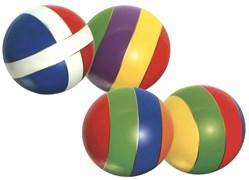 Мяч д. 200мм лакированный с-23ЛП (полоса)