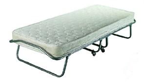 Раскладушка Жуковка с пружинным матрасом + ограничители матраса, чехол (кровать раскладная) 1980x800x400мм