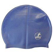 Шапочка для плавания силиконовая массажная XA30 (темно-синяя)