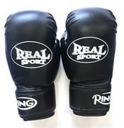 Перчатки боксерские REALSPORT черные