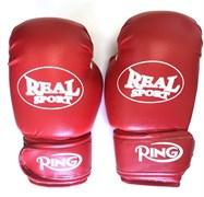 Перчатки боксерские REALSPORT красные