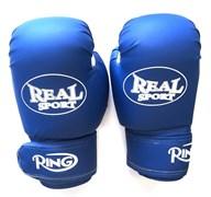 Перчатки боксерские REALSPORT синие