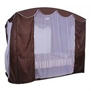 Тент крыша SEBO с антимоскитной сеткой для качелей Монарх Шоколад