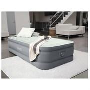 Кровать надувная односпальная 99х191х46см Intex 64902 со встроенным насосом 220В