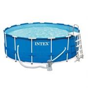 Каркасный бассейн Intex 28242 (457х122см) + фильтр-насос, лестница, тент, подстилка