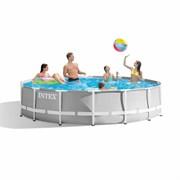 Каркасный бассейн Intex 26724 (457х107см) + фильтр-насос, лестница, тент, подстилка