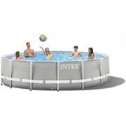 Каркасный бассейн Intex 26756 (610х132см) + фильтр-насос, лестница, тент, подстилка