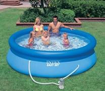 Надувной бассейн Intex 28122-Н с надувным верхним кольцом (305х76см) + фильтр-насос